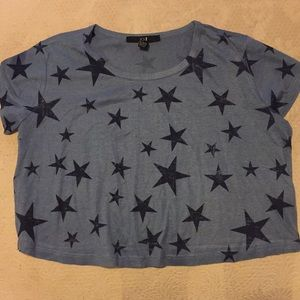 Forever 21 star crop top